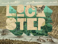 a little lockstep treatment with type inspired by... #steamboat #map #vintage #type #typography