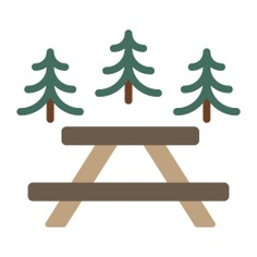 See more icon inspiration related to picnic, bench, park, camping, table, rest area and people on Flaticon.