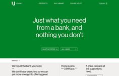 U Bank, inspiration N°588 published on The Gallery in date February 1st, 2016. #website