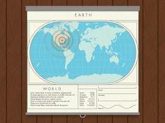 Dribbble - geolocator. by linda eliasen #gps #dribbble #world #map #locator