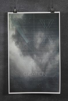 Creation #genesis #design #graphic #geometric #jesus #poster #creation #bible