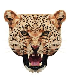 CHEETAH — Geometric vector animals #vector #geometric #cheetah #animals