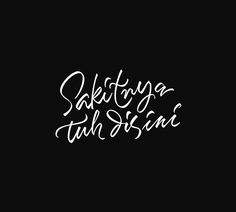 Simple Hand Lettering Font Design By Artimasa Studio #lettering #typography font