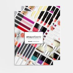 Style Patisserie Brand Catalogue www.vanessavanselow.com #lookbook #design #makeup #layout #beauty
