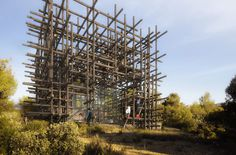 CJWHO ™ (sou fujimoto: geometric forest for solo houses) #design #landscape #photography #architecture #art