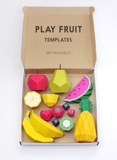 Play Fruit Templates #diy #fruit