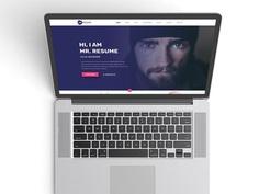 Free Clean Resume Website Template