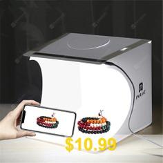 Bilikay #PULUZ #Foldable #Mini #1 #LED #Photography #Light #Box #- #WHITE