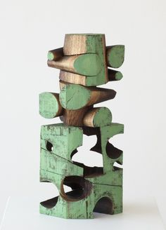 Mel Kendrick - Untitled, 2013 #sculpture #design #wood #art #tower #green