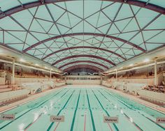 Фотограф Franck Bohbot #interior #water #pool #architecture #blue