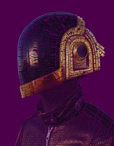 30 Artworks Inspired by Daft Punk | Cuded #daft #illustration #punk #typography