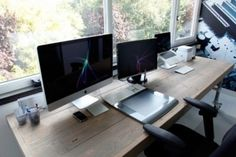 livin' fast. #interior #computer #design #wood #workspace