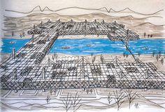 Yona Friedman - Spatial City - 1960 #urban