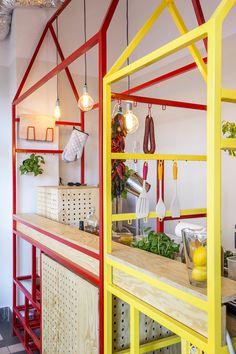 Serwus, Zapiekanka Bar — Warsaw #interior #shop #design