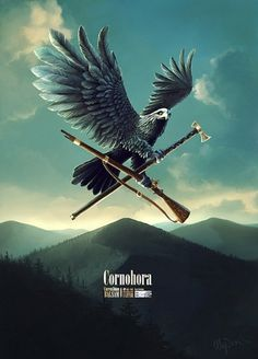Cornohora Balsam : Lovely Package . Curating the very best packaging design. #rifle #tomahawk #bird #illustration #eagle