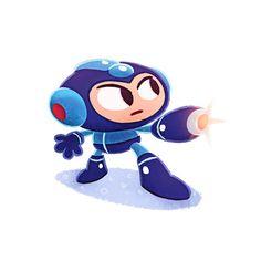 Videogame Heroes on Behance #design #illustrations #mega #man #character