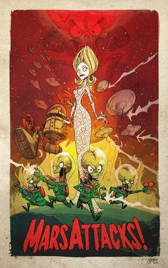 Mars Attacks! by ~jeffagala on deviantART #alien #tim #fi #space #sci #mars #poster #film #burton #attacks