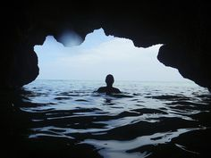 Flickr Finds No. 33 #ocean #water #perspective #cave #silhouette #swim #cool