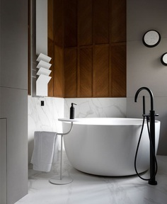 Luxury Ukrainian Villa by Studio Denrakaev - InteriorZine #bath #interior #decor