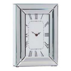 Chriss Mirror Rectangle Table Clock, 33 cm