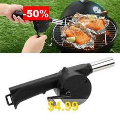 Portable #Manual #Air #Blower #Barbecue #Tool #- #BLACK