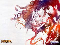 Rockstar Wallpaper #illustration #gig poster #love #color overlay