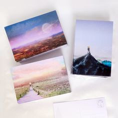 Poscard designs mixing illustration and photomanipulation #illustration #Print #Postcard #photo #landscape