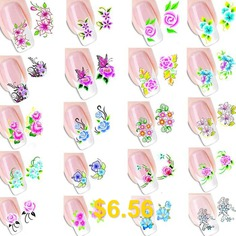 Environmental #Resin #Manicure #Nail #Sticker #Decals #20pcs #- #COLORMIX