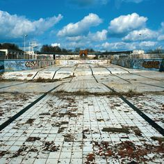 Absence of Water — Gigi Cifali #abandoned #pool #clouds #empty