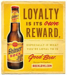Shiner Bock Love Ad #beer #advertising