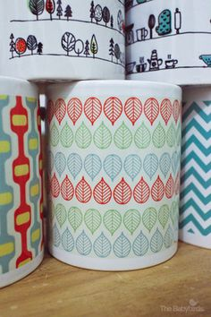 The Babybirds Projects » Pattern Mugs – Pre Order Now! #mugs #pattern #retro #mug
