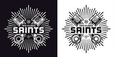 Twin Cylinder Saints - St. Francis BUILD Team | Flickr - Photo Sharing! #sun #piston #milwaukee #twin #cylinder #brett #logo #motorcycles #peter #brand #lockup #saints #bike #wisconsin #stenson #type #burst