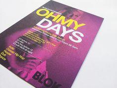 Blok Nightclub Promo | Flickr - Photo Sharing! #graphic design #branding #uti creative #recycled pulp print
