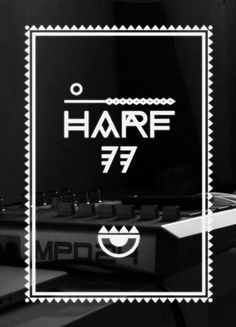 HARF 77 on the Behance Network #font #punk #77 #poster #oggian #marco #typography
