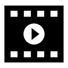 See more icon inspiration related to cinema, movie, film strip, video player, video play, play button and technology on Flaticon.