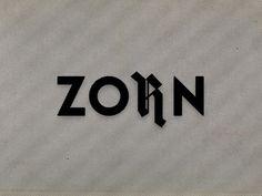 Casestudy | Logotype | ZORN #funktion #logotype #form #boris #zorn #hoepf #box #blackmilk #grafische #graphica #la #heilanstalt #fucks #minus #viva