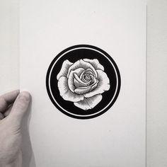 andrey svetov – tattoo #line #ink #rose #print #tattoo #illustration