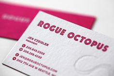 ty mattson rogue octopus letterpress 900 01 #cards #identity #letterpress #business