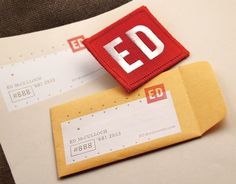 * Ed McCulloch : Photographer // FUNNEL #direct #embroidery #patch #mail #identity #envelope #mailer #embroidered