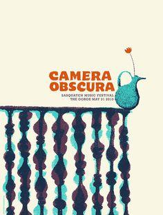 Camera Obscura #gig #poster #illustration