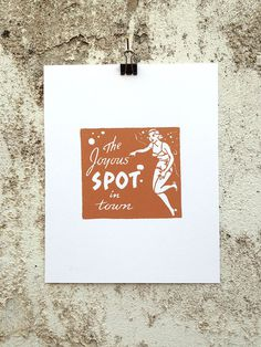 The Joyous Spot - 8 x 10 Mini Poster #kitsch #retro #girlie #illustration #vintage #etching #matchbook #art #burlesque