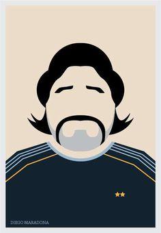 Diego Maradona #minimalistic #movies #design #graphic #posters #minimal #poster #minimalist