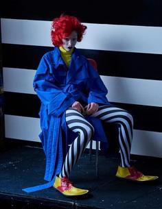 Supplement Magazine Spring Summer 2017 Lera Abova by Mariano Vivanco - Fashion Editorials clown
