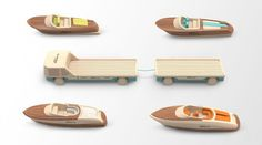 Miniature Wooden Toy Boats_5
