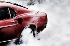 DeadFix » Power #smoke #tires #fire #cars #mustang #rides
