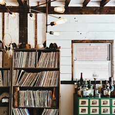 interior, LPs, records