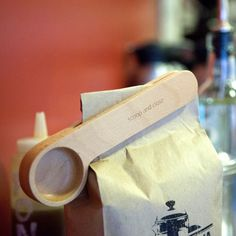 Wood Cafe Clip by Kikkerland #tech #flow #gadget #gift #ideas #cool
