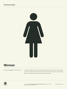 The Human Project Poster (Woman) #inspiration #creative #information #collection #design #graphic #poster #typography