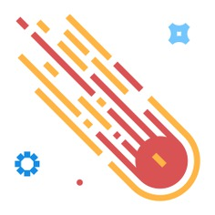 See more icon inspiration related to comet, star, falling star, miscellaneous, falling, meteorology, nature and sky on Flaticon.