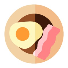 See more icon inspiration related to breakfast, lunch, meal, egg, plate, dish, bacon, food and food and restaurant on Flaticon.